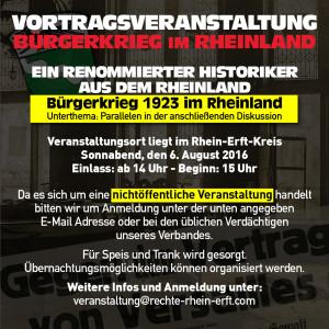 Vortragsveranstaltung: Bürgerkrieg 1923 im Rheinland