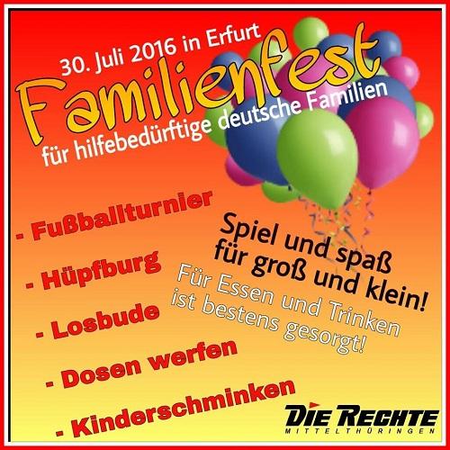 Update zum Familienfest in Erfurt!