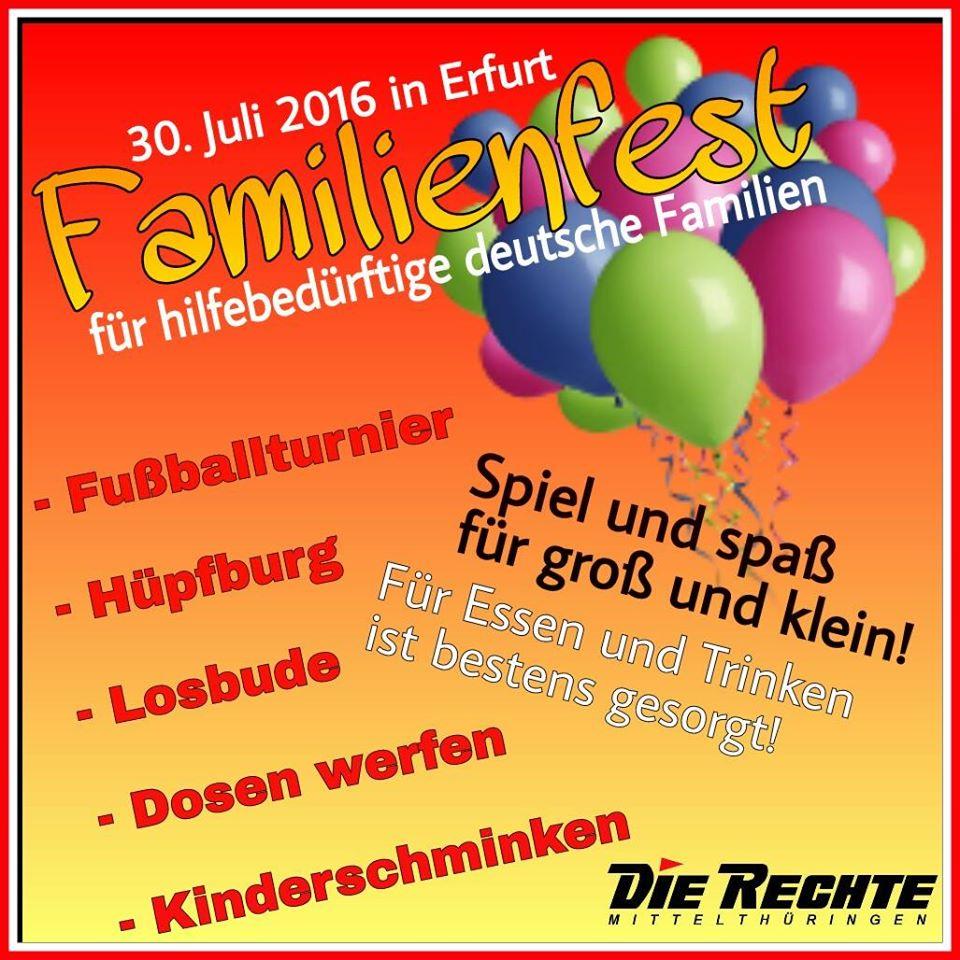 Einladung zum Familienfest am 30. Juli 2016 in Erfurt