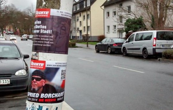 Wegen einem Aufkleber: Polizeieinsatz gegen Nationalisten in Dorstfeld