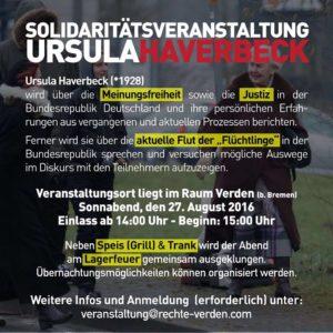 Solidaritätsveranstaltung für Ursula Haverbeck
