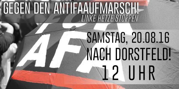 Linke Hetze stoppen: Antifaaufmarsch in Dorstfeld entgegentreten! [Samstag, 20. August]