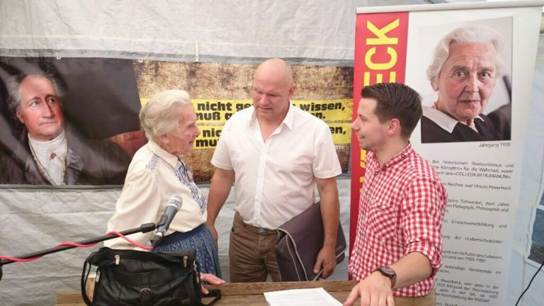 Private Solidaritätsveranstaltung für Ursula Haverbeck