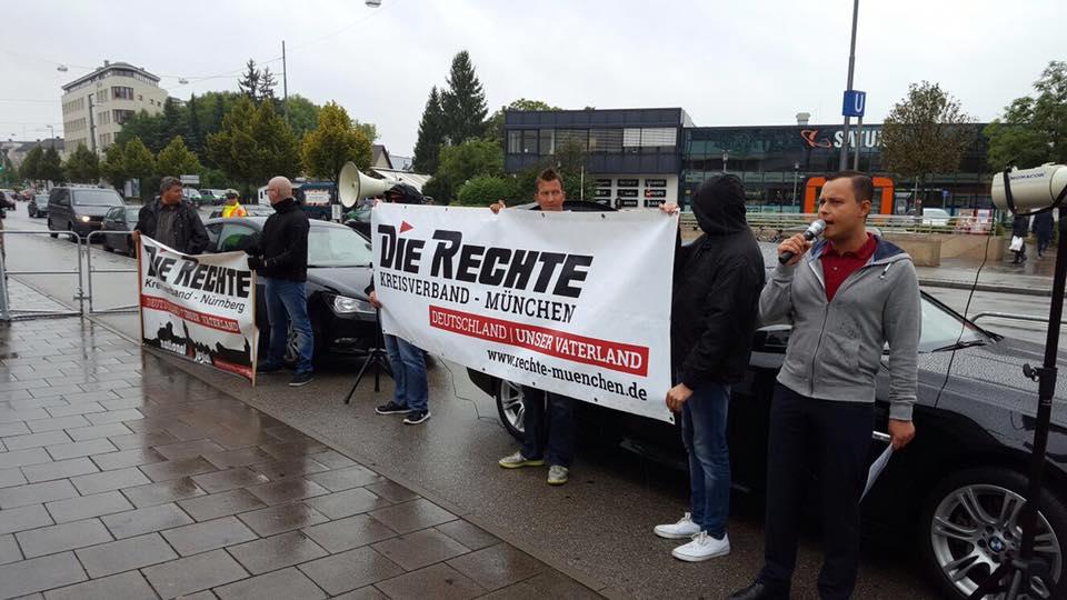 DIE RECHTE führte Kundgebungstour in München durch