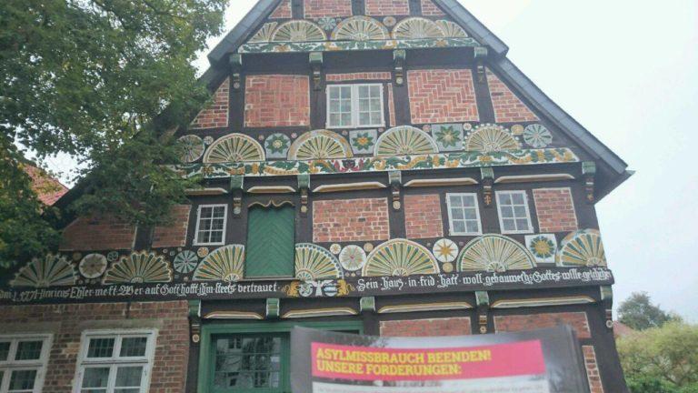 Flugblattaktion in Verden/Aller (Altstadt)