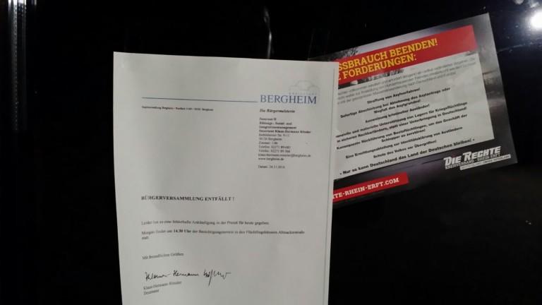 Bergheim: Flugblattaktion statt Asyl-Infoveranstaltung