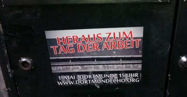 1. Mai 2017: Erstes Mobimaterial für die Demonstration in Dortmund verfügbar!