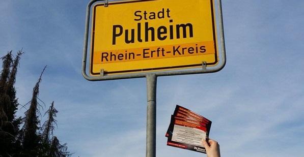 Asylkritische Flugblattverteilung in Pulheim