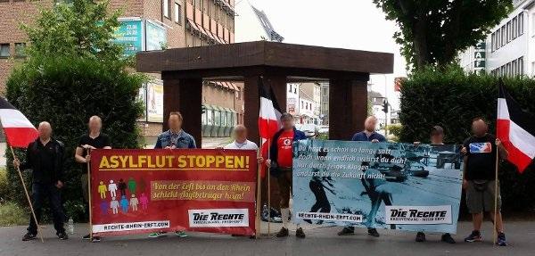 Kundgebung gegen Asylflut in Bergheim