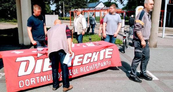 Aktivismus in Dortmund: Infostand in Dorstfeld, Transpi-Aktion an der A40