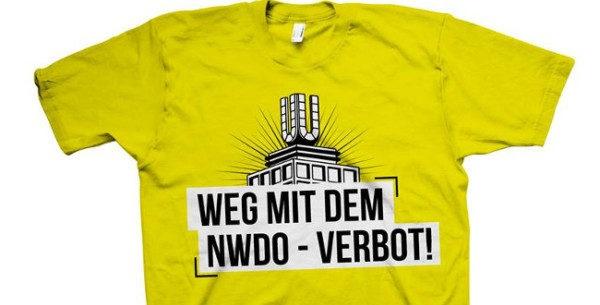 Mottoshirt: 5 Jahre NWDO-Verbot – Weg damit!
