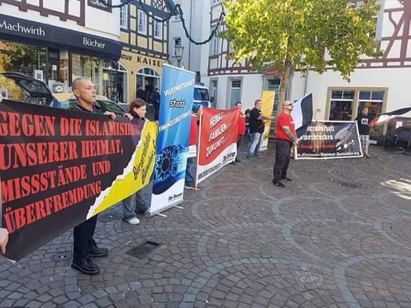 """Nachtrag: 1. """"Tour der Gerechtigkeit"""" vom DIE RECHTE-LV Südwest am 14. Oktober"""