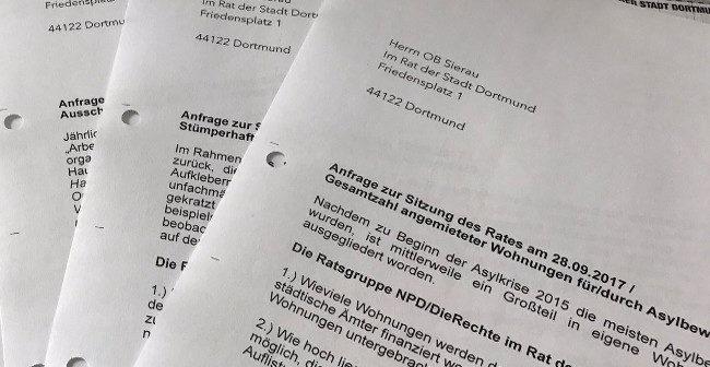 Soziales und Geldverschwendung: Das sind die Antworten auf die Anfragen der Dortmunder Rechten!