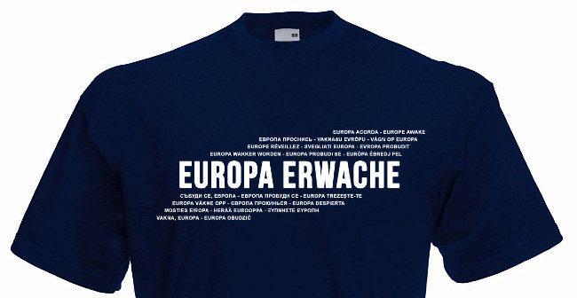 Europa erwache: Demoshirt ab jetzt erhältlich!