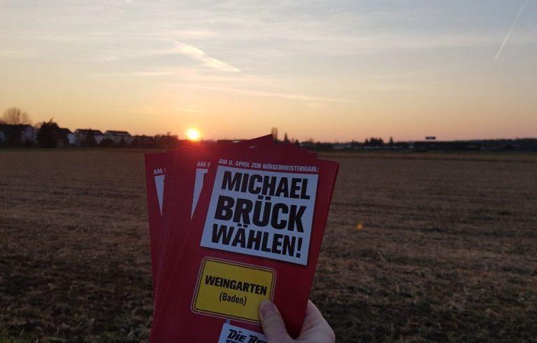 Wahlkampf zur Bürgermeisterwahl in Weingarten (Baden) – Zwischenbilanz