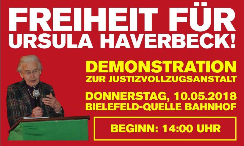 Aktuelle Infos zur Soli-Demo für Ursula Haverbeck am 10. Mai in Bielefeld!