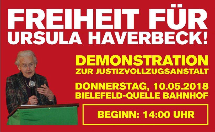 Freiheit für Ursula Haverbeck! Aufruf zur Demonstration am Donnerstag, den 10. Mai in Bielefeld!