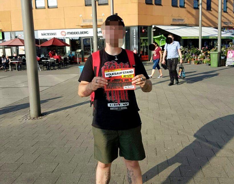 """""""Volksaufstand jetzt"""": Flugblattaktion in Oberhausen"""