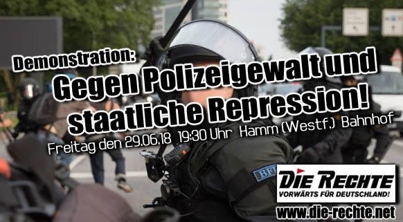 Hamm: Diesen Freitag (29. Juni) Demonstration gegen Polizeiwillkür!