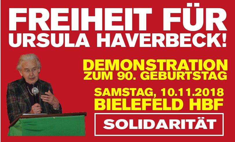 Freiheit für Ursula Haverbeck: Geburtstagsdemo am 10. November in Bielefeld!