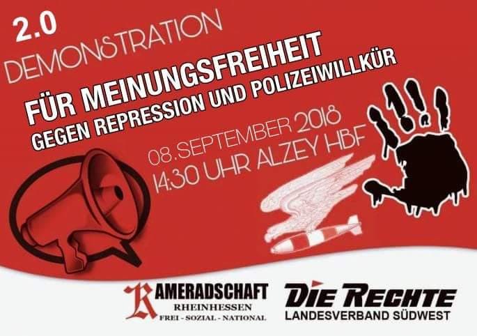 Gegen Repressionen – für Meinungsfreiheit: Demo am 8. September in Alzey!