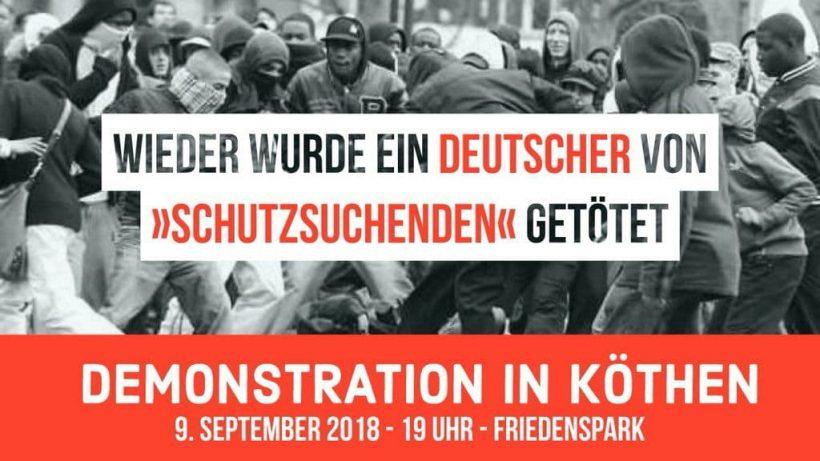 Eilmeldung! Junger Deutscher in Köthen von Afghanen umgebracht – Heute um 19 Uhr Trauermarsch!