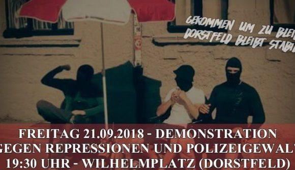 Jetzt erst recht: Freitag (21.9.) Doppeldemo in Dortmund-Dorstfeld und Marten!