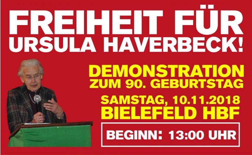 Geburtstags-Demo für Ursula Haverbeck: Wir werden marschieren – so oder so