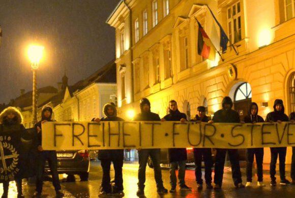 Ungarn: Solidaritätsaktion für Steven vor deutscher Botschaft in Budapest!