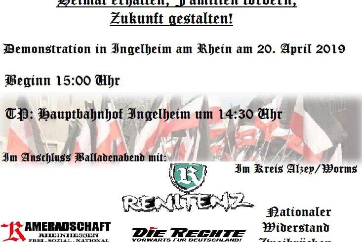Wahlkampfauftakt des DIE RECHTE-LV Südwest am 20. April in Ingelheim am Rhein!
