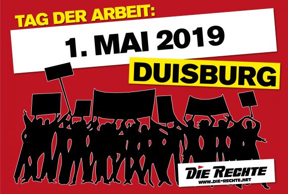 Duisburg-Meiderich: DIE RECHTE verteilte Flugzettel für nationale 1.-Mai-Demonstration