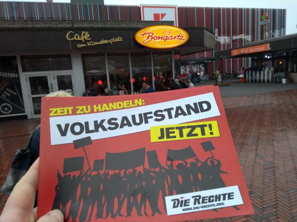 Duisburg-Walsum: DIE RECHTE mit Protestaktion gegen den Besuch von SPD-Oberbürgermeister Link