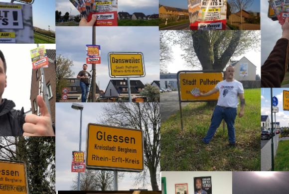 Aktionsbericht zur ersten Europawahlkampf-Woche im Rhein-Erft-Kreis