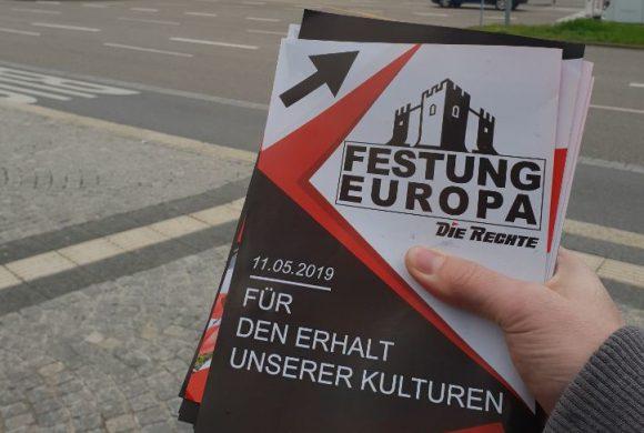 Festung Europa – Für den Erhalt unserer Kulturen – Verteilaktion für die Demo am 11.05.2019 in Pforzheim