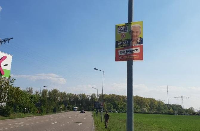 Plakat-Wahlkampf auch in Karlsruhe (BW), Kevelaer (NRW) und Wöllstein (RLP)!