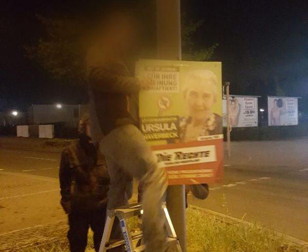 Plakatwahlkampf erreicht den Kreis Recklinghausen: Erste Aktionen in Marl und Oer-Erkenschwick!