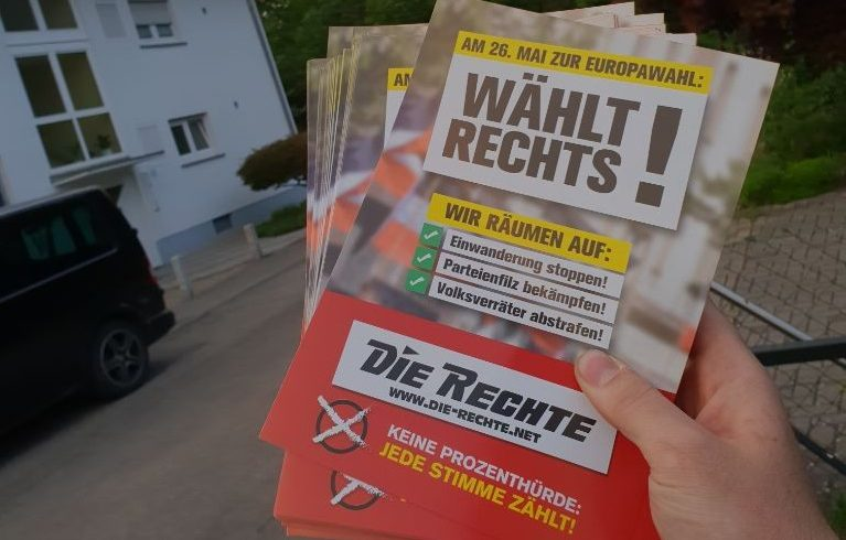 Wahlkampf in Weingarten (Baden)
