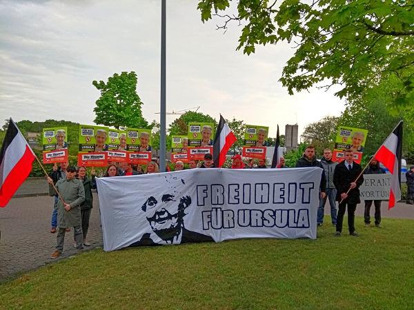 Freiheit für Ursula Haverbeck: Kundgebung zum 1. Jahrestag der Inhaftierung vor der JVA Brackwede durchgeführt!