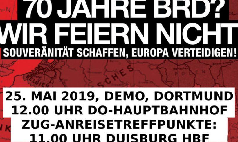 25. Mai in Dortmund: Europäische Aktivisten kommen zur Demo, Anreisetreffpunkte stehen fest!