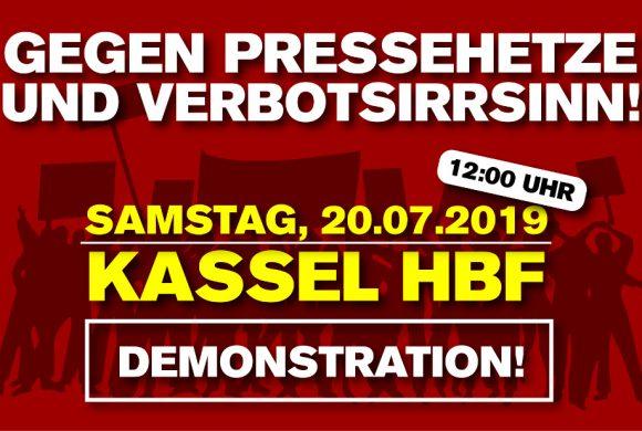 Gegen Pressehetze, Verleumdung und Maulkorbphantasien – Demonstration am 20. Juli in Kassel!