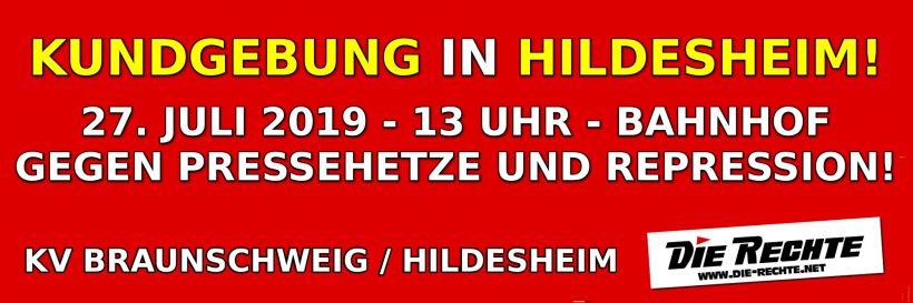 Verwaltungsgericht: Stadt Hildesheim verliert Eilverfahren um Kundgebung am Samstag (27. Juli 2019)!