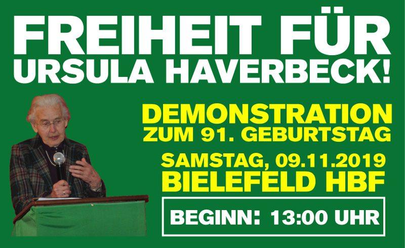 Bielefeld: Freiheit für Ursula Haverbeck – Demonstration zum 91. Geburtstag am 9. November 2019!