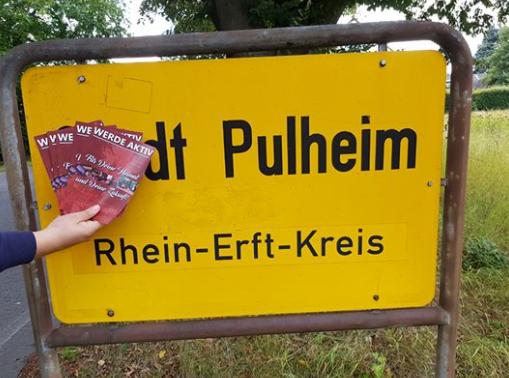 Flugblattverteilung in Pulheim erfolgreich durchgeführt!