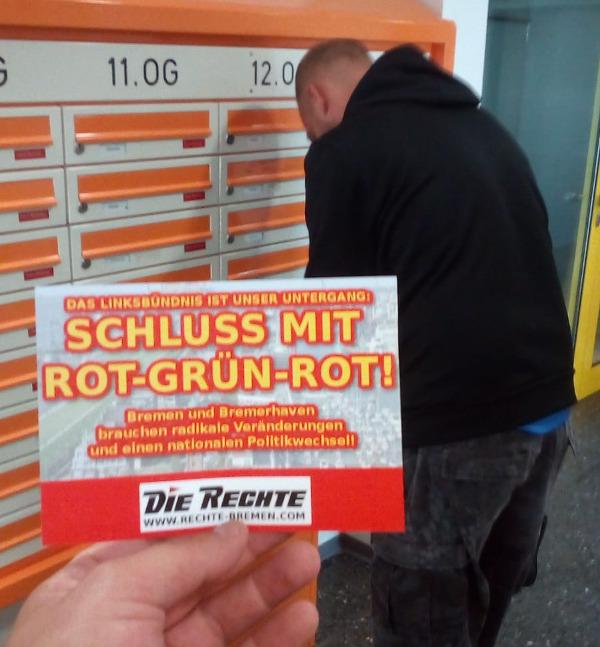 Bremerhaven: Neues Flugblatt gegen rot-grün-rote Landesregierung verteilt!