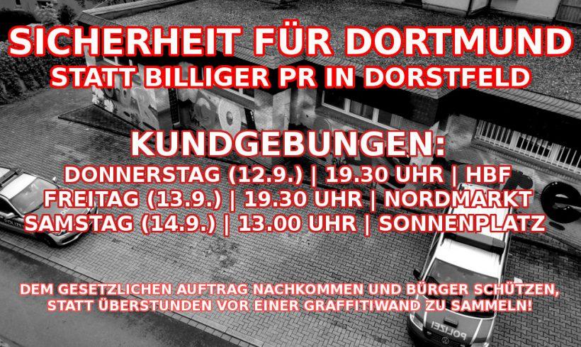 Echte Sicherheit für Dortmund schaffen: Kundgebungen in der Innenstadt, Nordstadt und dem Kreuzviertel!