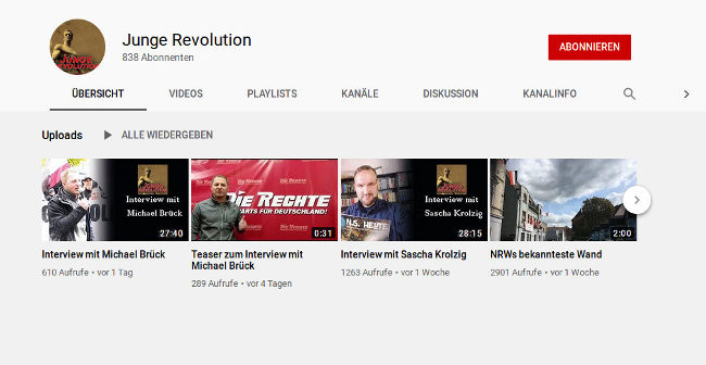 """DIE RECHTE-Aktivisten Sascha Krolzig und Michael Brück im Gespräch mit """"Junge Revolution"""""""