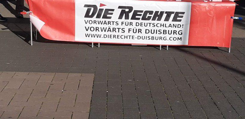 Infotisch im Arbeiterstadtteil Duisburg-Hamborn durchgeführt