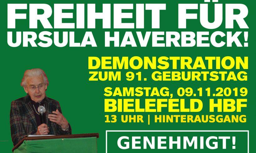 Mobivideo zur Demo am 9. November in Bielefeld: Freiheit für Ursula Haverbeck!
