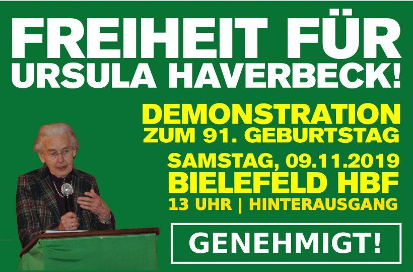 Polizei akzeptiert Gerichtsentscheid: Geburtstagsdemo für Ursula Haverbeck findet am 9. November in Bielefeld statt!