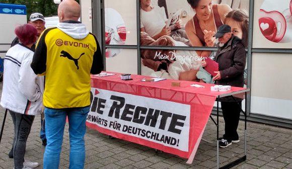 Erneuter Infostand beim Wochenmarkt in Dortmund-Eving